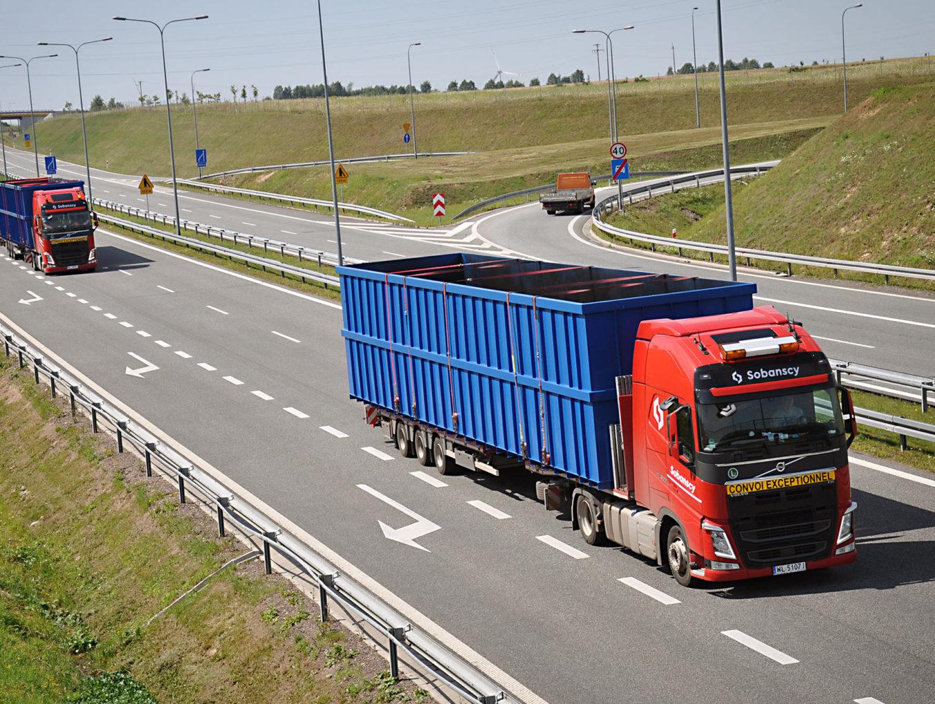 Transport towarów ponadgabarytowych